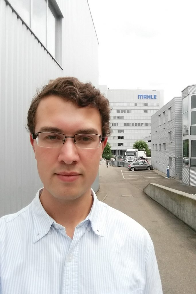 Fifth-year senior Alex Kinstler, an engineering and German language dual major, participated in a summer practicum at the German automotive parts manufacturer Mahle as part of the Eurotech program.