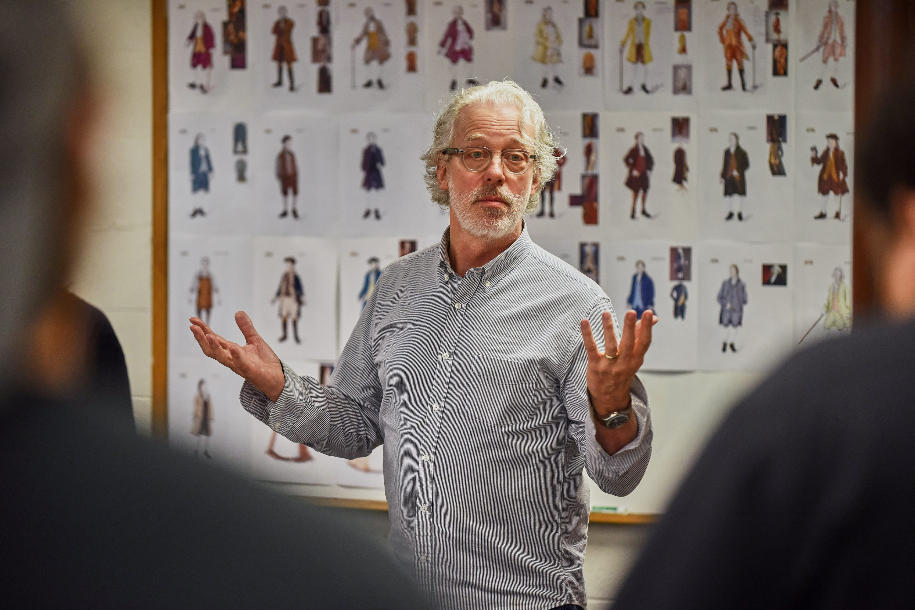 Terrence Mann, artistic director of the Connecticut Repertory Theater nutmeg summer series, leads a rehearsal of