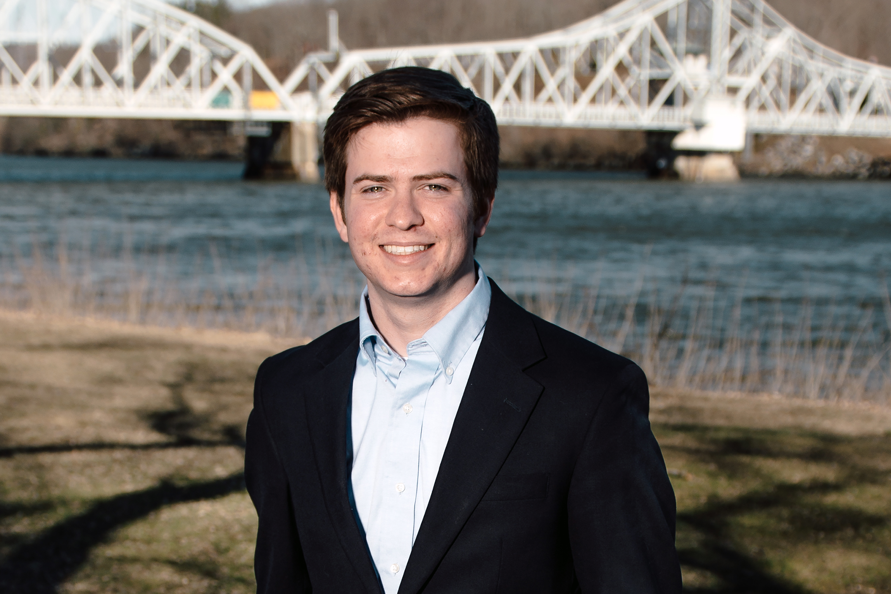 Kevin McMullen, a structural engineering Ph.D. student at UConn, has designed a bridge-safety monitoring device.