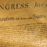 Close-up of the Declaration of Independence. (Getty Images)