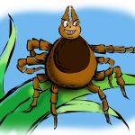 Ticks cannot fly or jump but they are particularly good at hitchhiking, using a behavior called 'questing.' (John Bailey/UConn Illustration)