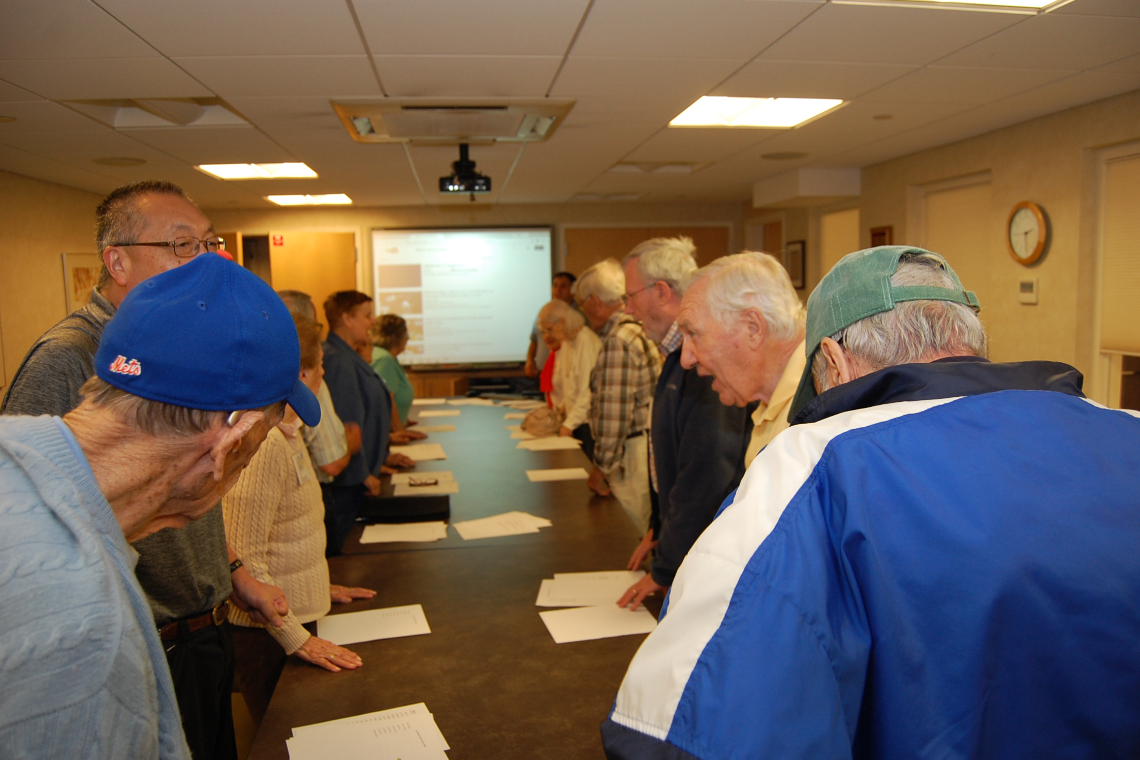 "The ""Seventh Inning Stretch"" at the River House Adult Care Center in Cos Cobb, Connecticut, is when participants in the Baseball Reminiscence Program sing ""Take Me Out to the Ballgame"" during the midway point during their session. (Kenneth Best/UConn Photo)"