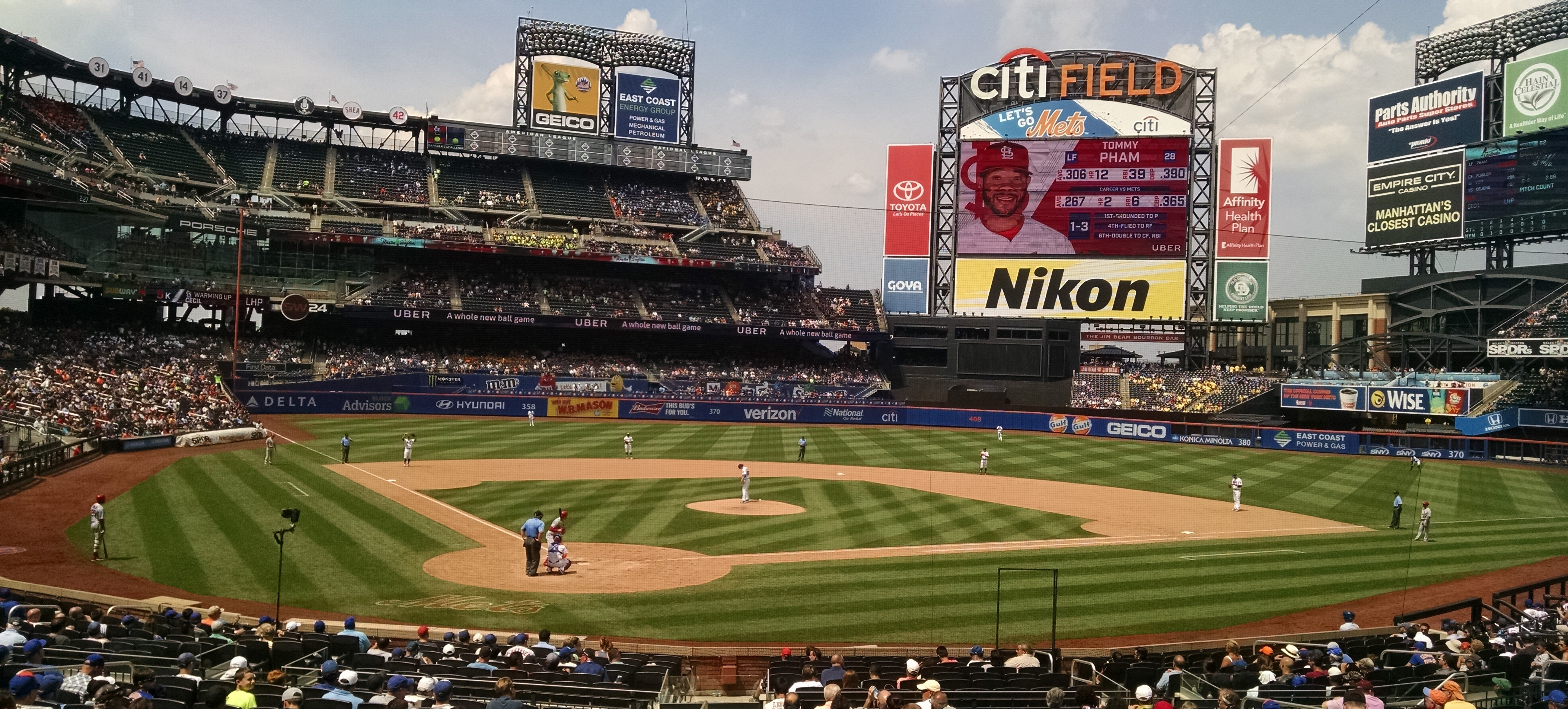 The New York Mets play against the St. Louis Cardinals at Citi Field in New York City on July 20, 2017. (Kenneth Best/UConn Photo)