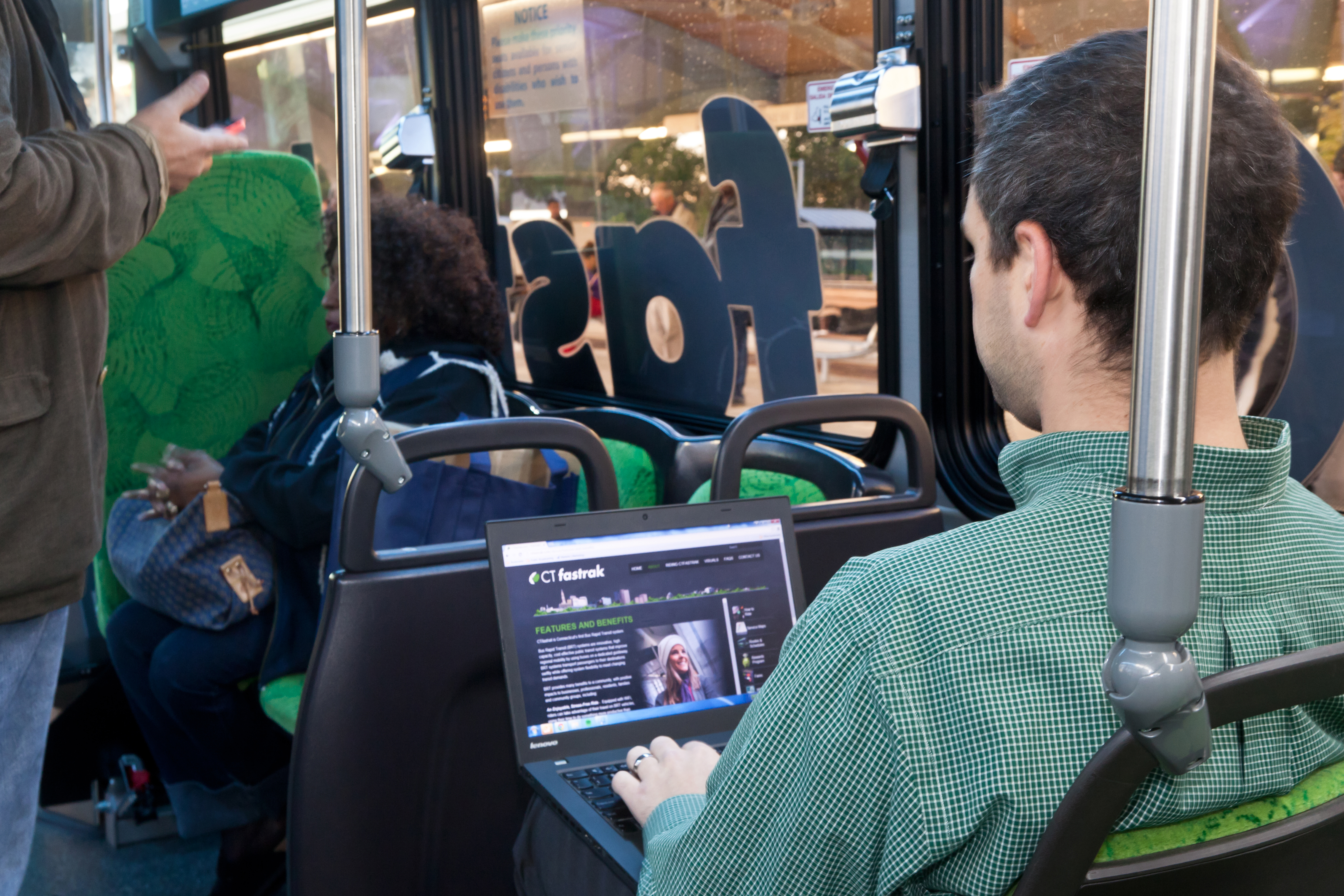 CT fastrak, Connecticut's first Bus Rapid Transit system, is a system of bus routes that use a bus-only roadway for all or a portion of the trip.